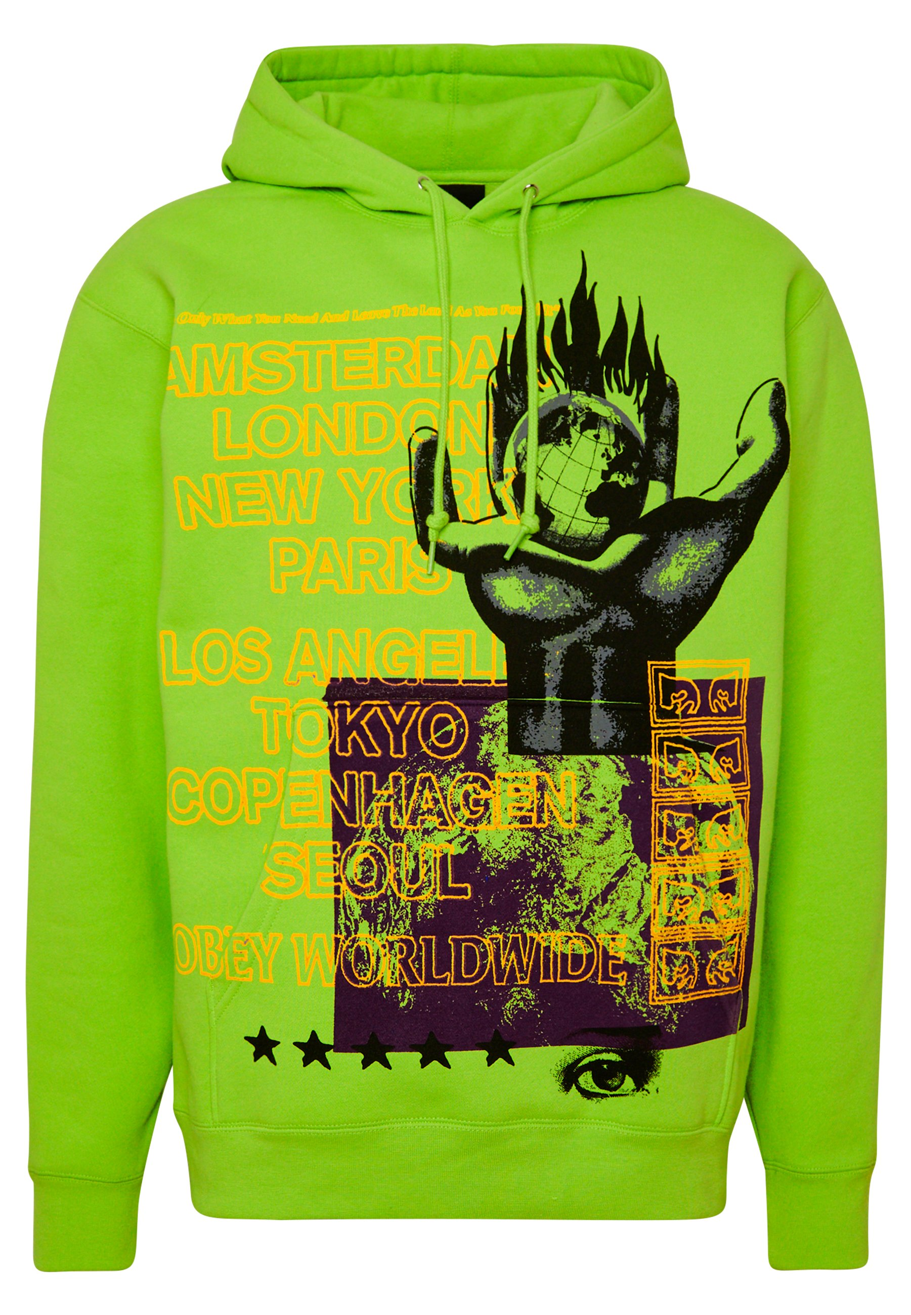 OUR PLANET Hoodie bright lime