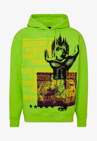 Obey Clothing - OUR PLANET - Mikina s kapucí - bright lime - 3