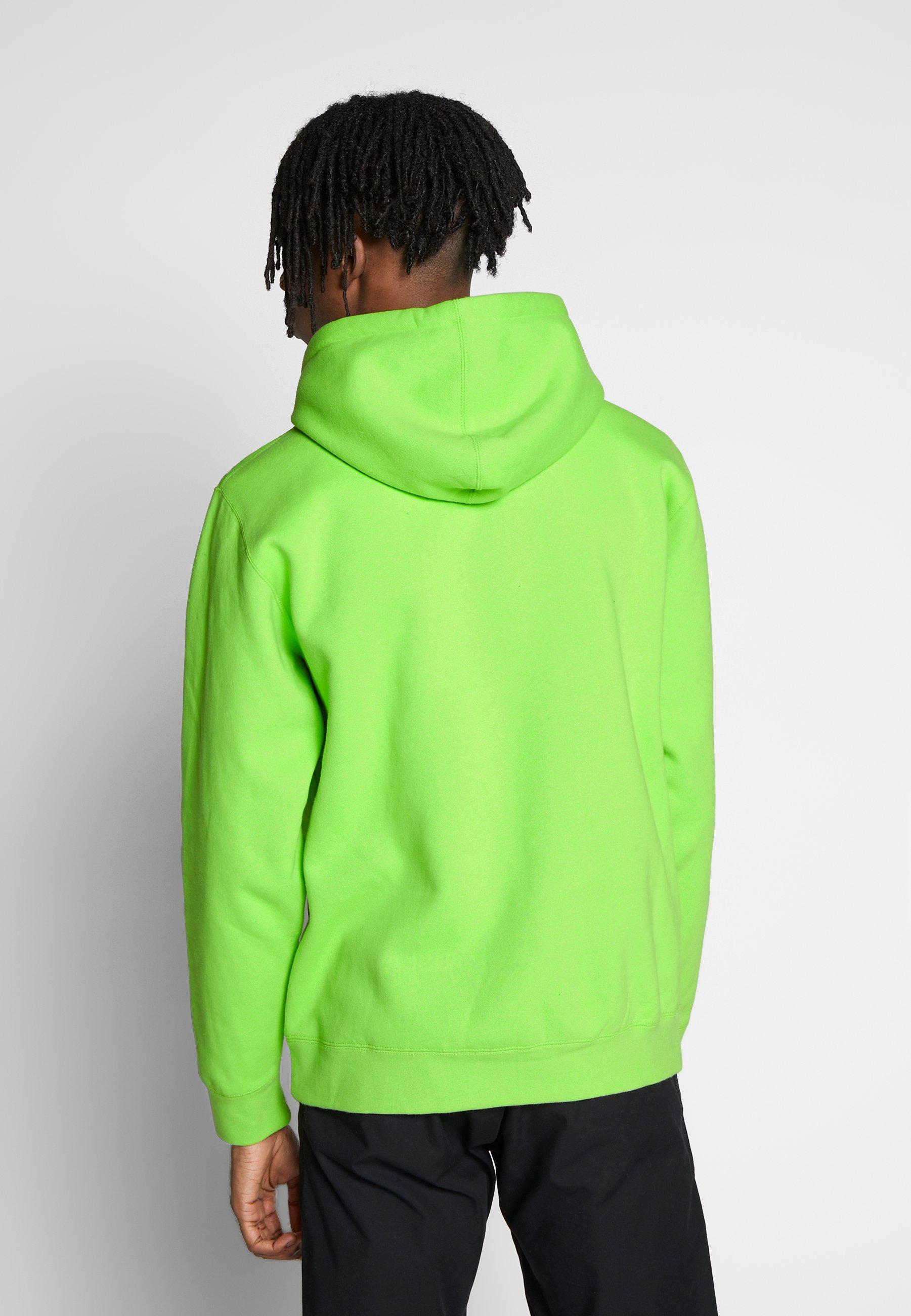 Obey Clothing OUR PLANET - Bluza z kapturem - bright lime