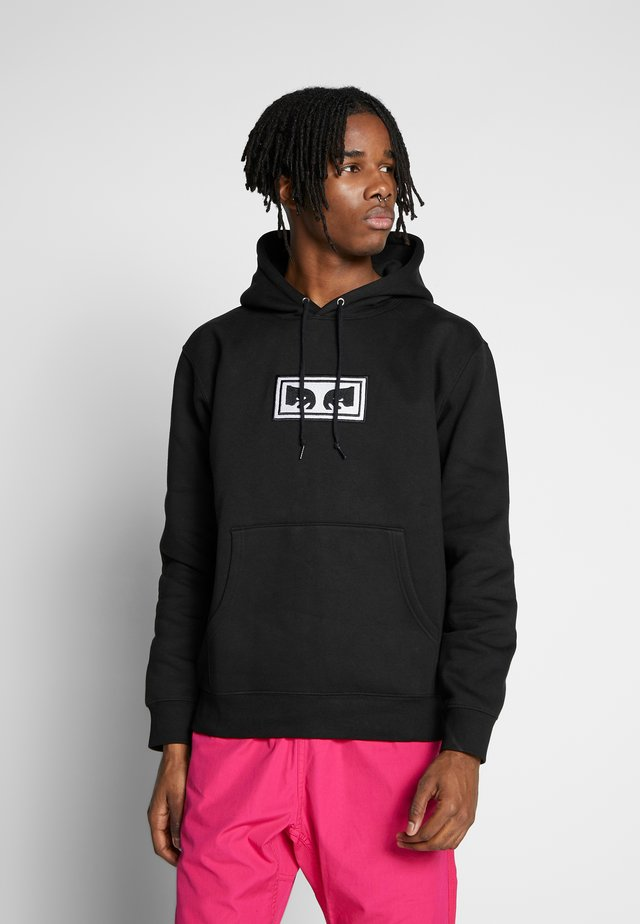 OBEY EYES HOOD - Jersey con capucha - black