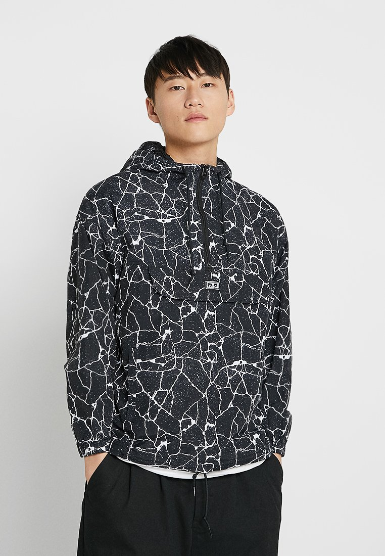 Obey Clothing - CONCRETE ANORAK - Giacca a vento - cracked black