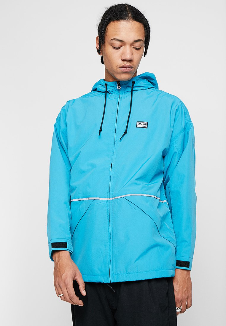 Obey Clothing - THE CAPE JACKET - Chaqueta fina - pure teal