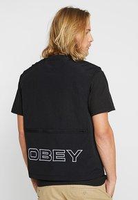 Obey Clothing - CEREMONY TECHNICAL VEST - Bodywarmer - black - 2