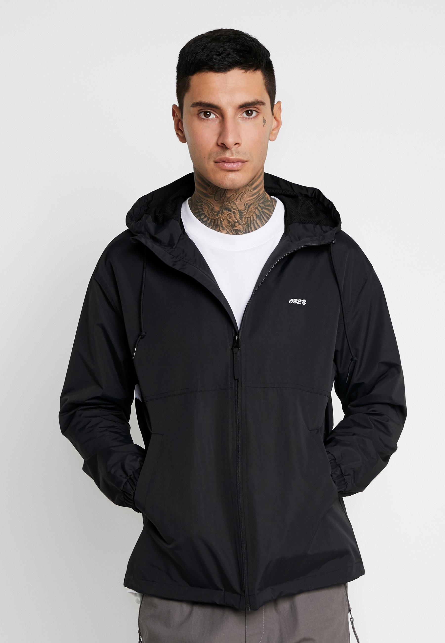 Légère Black Clothing Obey Caption JacketVeste OkPiXZu