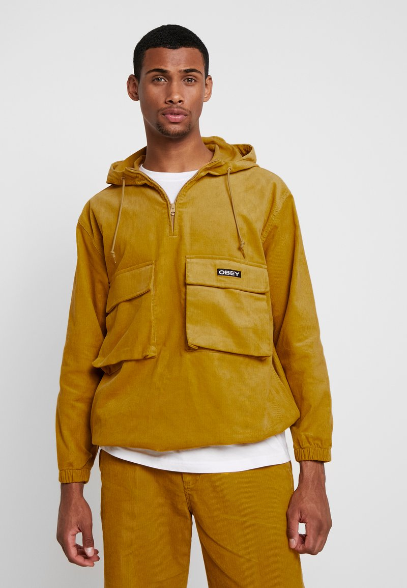 Obey Clothing - SHINER ANORAK - Větrovka - golden palm