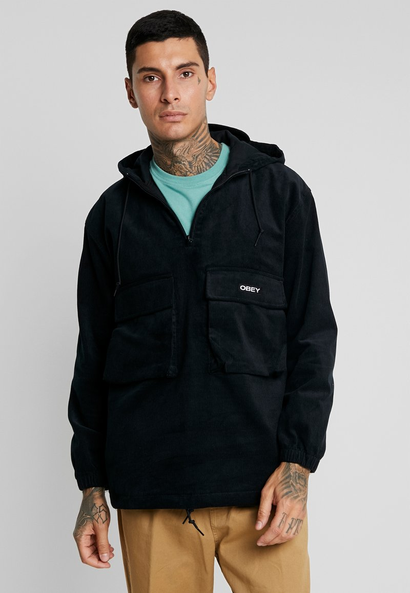 Obey Clothing - SHINER ANORAK - Větrovka - black