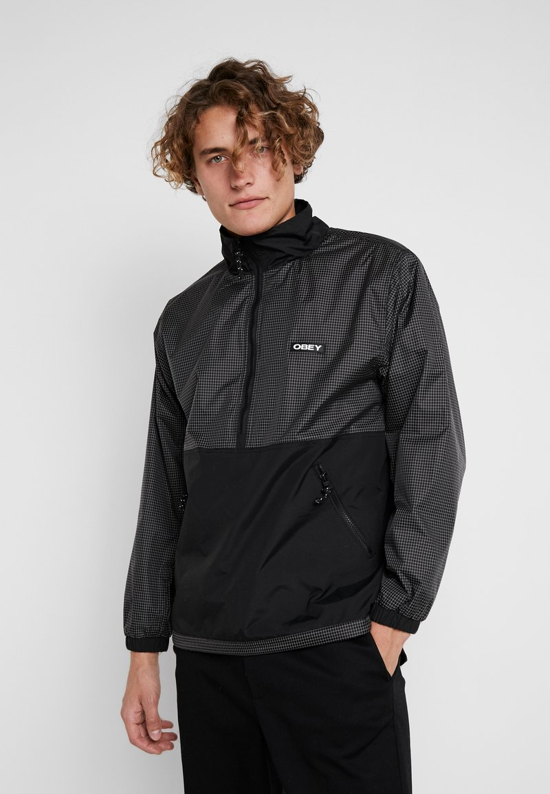Obey Clothing - NORE POP OVER ANORAK - Winterjas - black