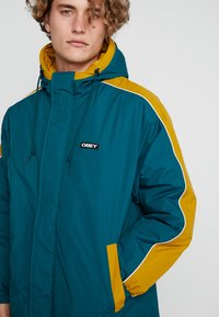 Obey Clothing - MAJOR STADIUM JACKET - Parka - deep teal - 4