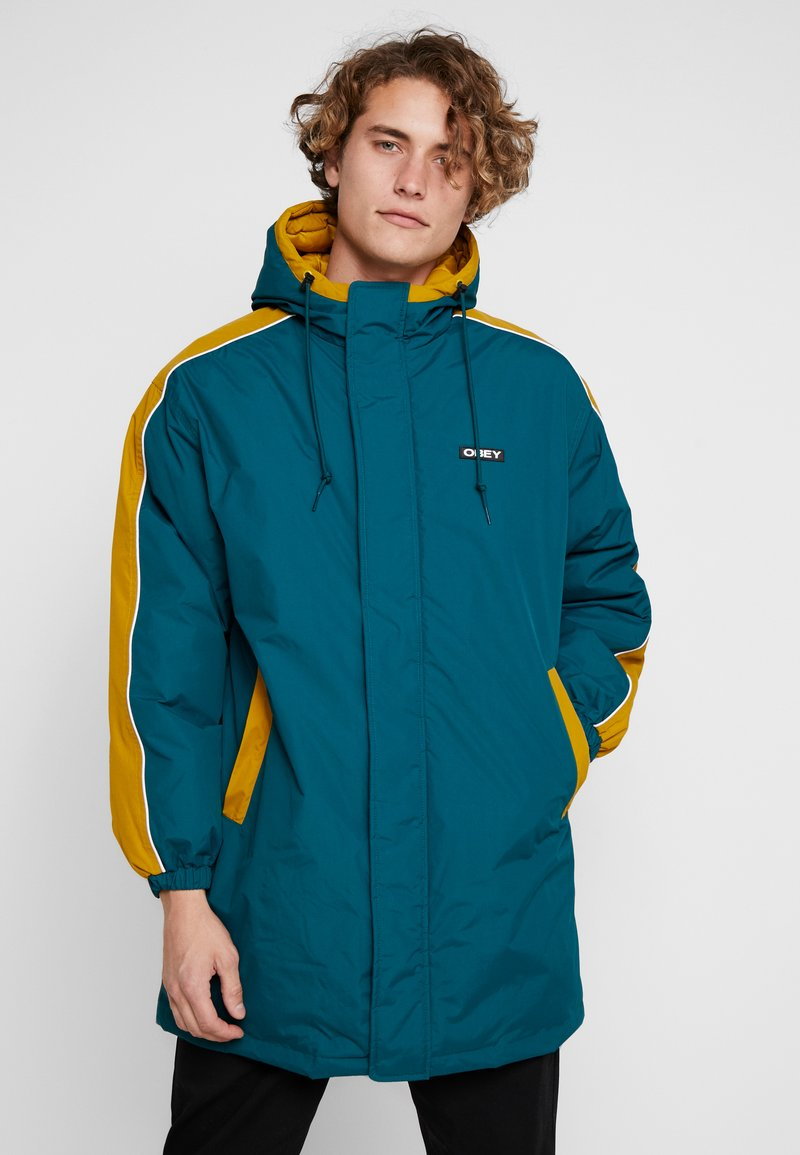 Obey Clothing - MAJOR STADIUM JACKET - Parka - deep teal