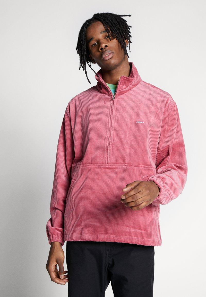 Obey Clothing - HUGO ANORAK - Summer jacket - cassis