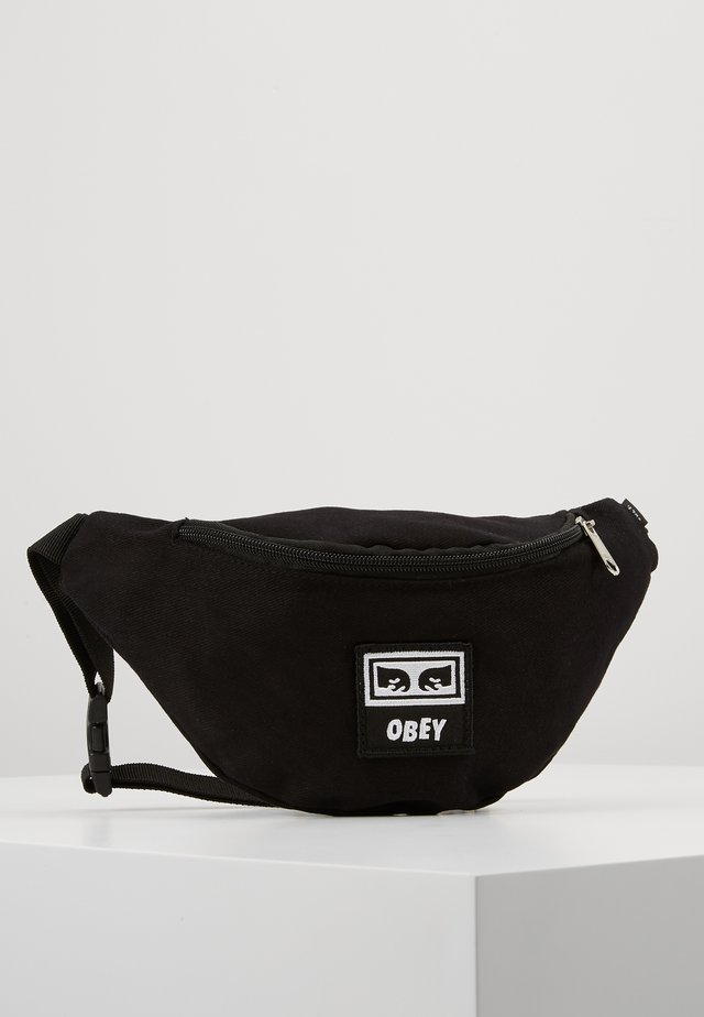 WASTED HIP BAG - Ledvinka - black twill