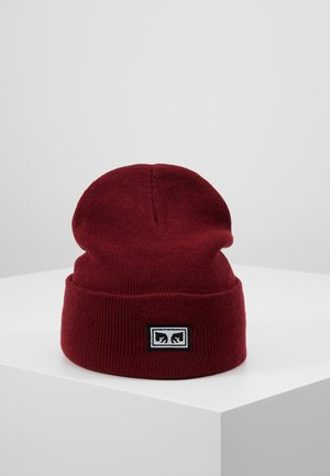 ICON EYES BEANIE - Čepice - fig red