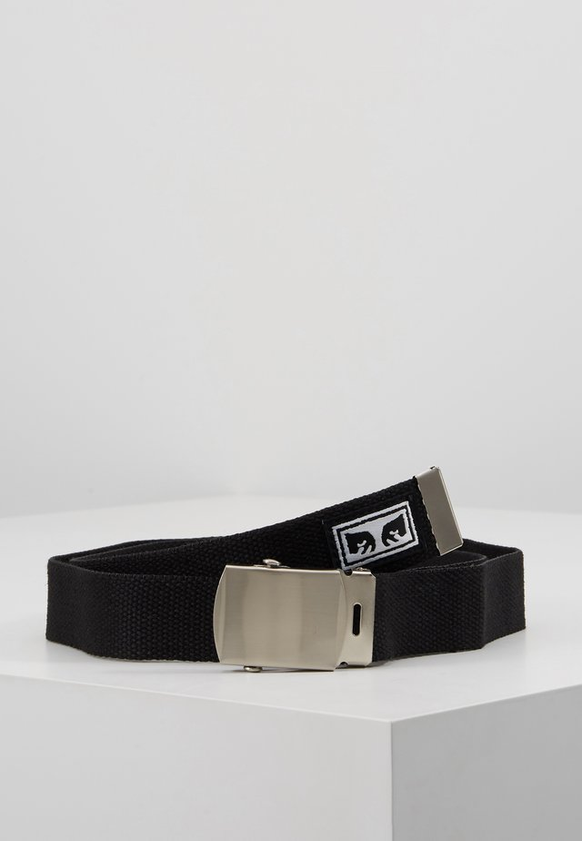 BIG BOY WEB BELT - Pasek - black