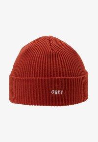 Obey Clothing - HANGMAN BEANIE - Beanie - brick red - 4