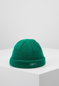 Obey Clothing - ROLLUP BEANIE - Mössa - green lake - 0