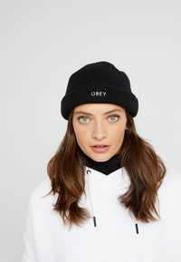 Obey Clothing - ROLLUP BEANIE - Berretto - black - 3