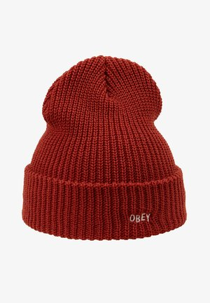 JUMBLED BEANIE - Gorro - brick red