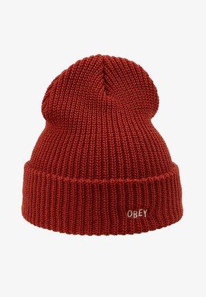 JUMBLED BEANIE - Mütze - brick red