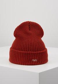Obey Clothing - JUMBLED BEANIE - Beanie - brick red - 0