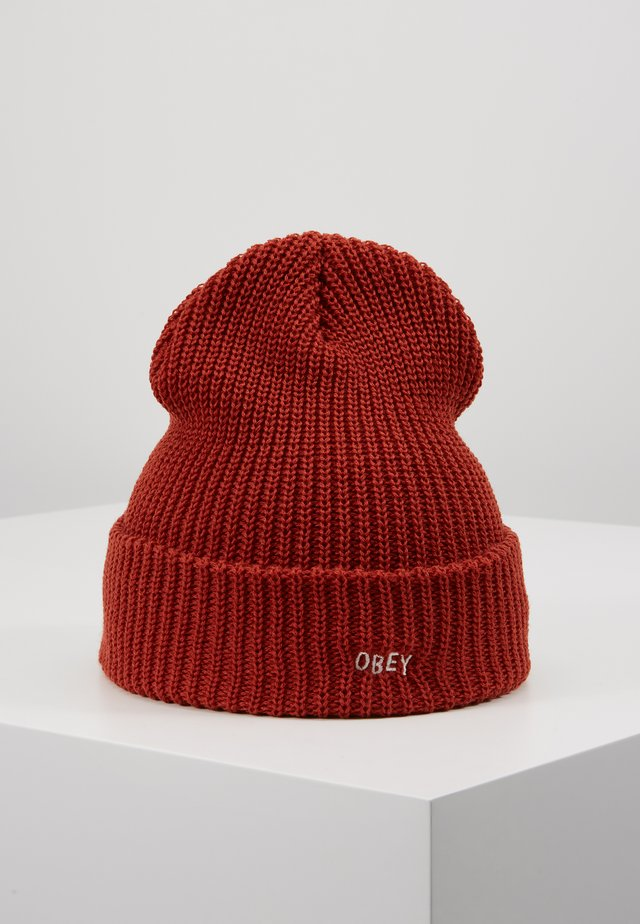 JUMBLED BEANIE - Pipo - brick red