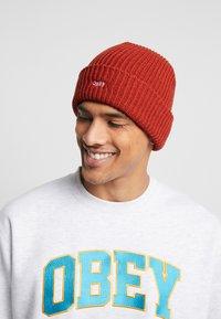 Obey Clothing - JUMBLED BEANIE - Beanie - brick red - 1