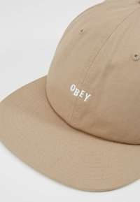 Obey Clothing - JUMBLED PANEL SNAPBACK - Kšiltovka - khaki - 6