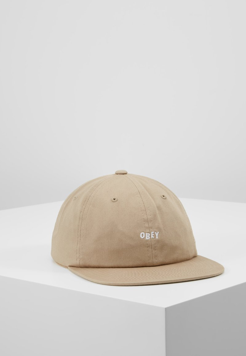 Obey Clothing - JUMBLED PANEL SNAPBACK - Kšiltovka - khaki