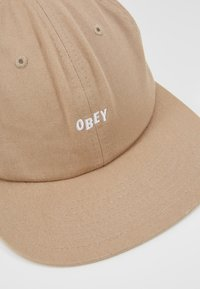 Obey Clothing - JUMBLED 6 PANEL STRAPBACK - Kšiltovka - khaki - 2