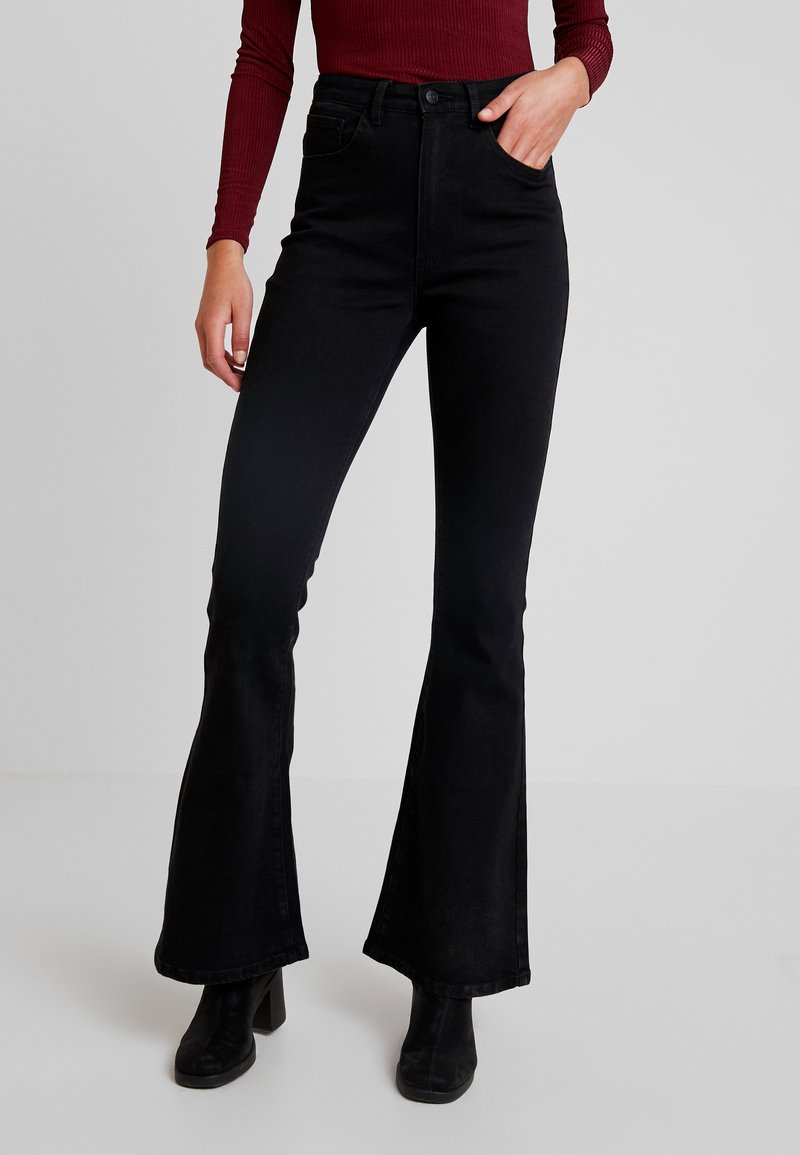 Object - OBJDIJU FLARED - Flared Jeans - black