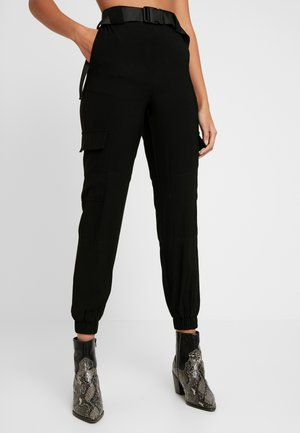 OBJMESA CARGO PANT - Trousers - black