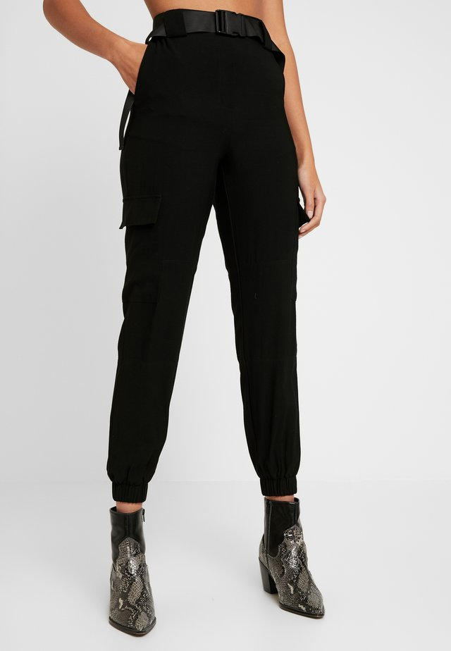 OBJMESA CARGO PANT - Trousers - black