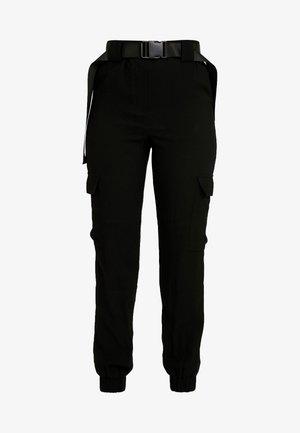 OBJMESA CARGO PANT - Bukse - black