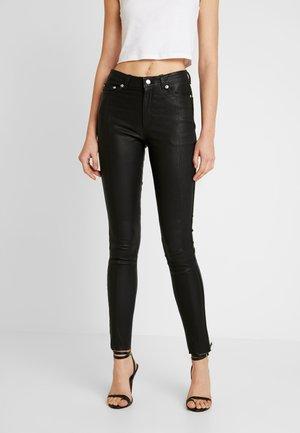 OBJNEWDASIE PANT - Leather trousers - black