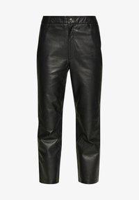 Object - OBJTIFANNY PANTS  - Kožené kalhoty - black - 3