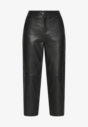OBJVIOLA  - Kožené kalhoty - black