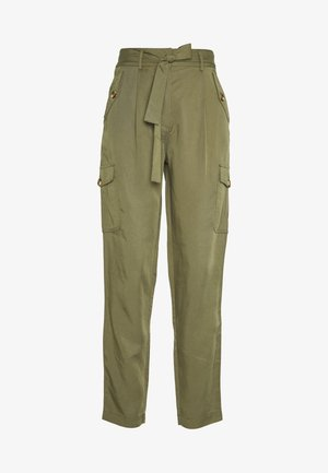 OBJGEORGIA - Trousers - burnt olive