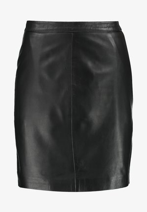 OBJCHLOE SKIRT - Gonna di pelle - black