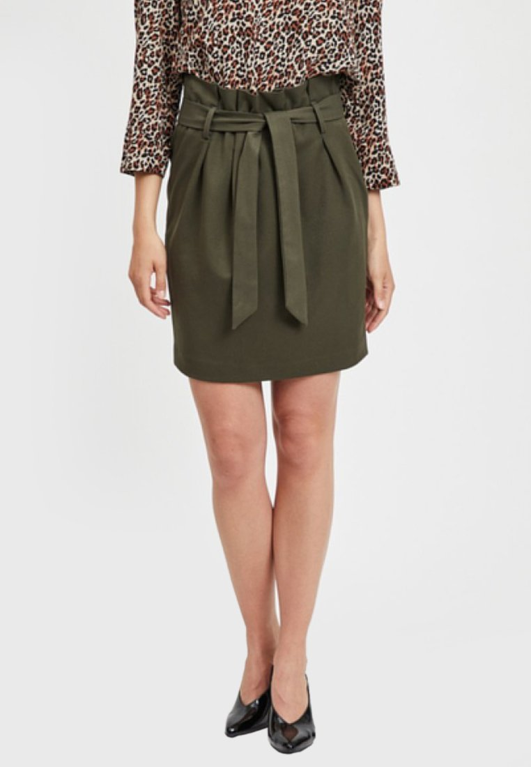 Object - Pencil skirt - olive