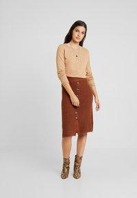 Object - A-snit nederdel/ A-formede nederdele - brown patina - 1