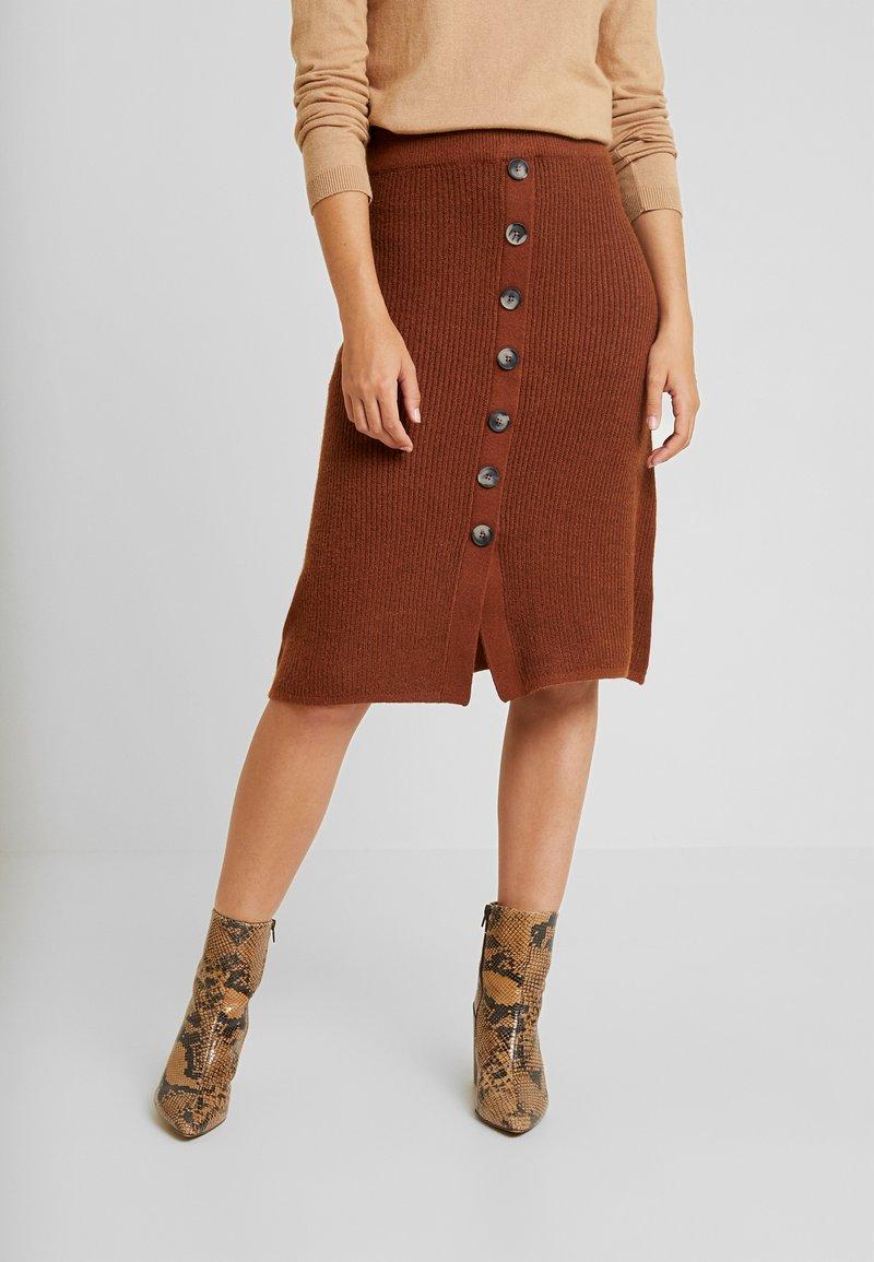 Object - OBJDAISY SKIRT - A-line skirt - brown patina