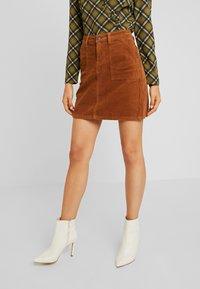 Object - Mini skirt - brown patina - 0