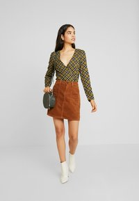 Object - Mini skirt - brown patina - 1