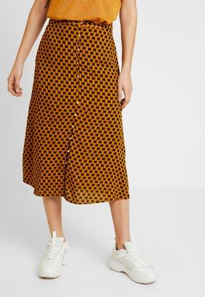 Maxi skirt - buckthorn brown/black