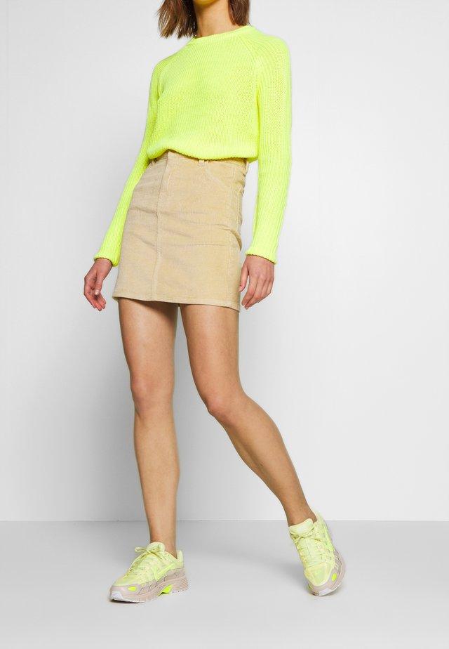 OBJIBI RUNA SKIRT - Mini skirt - sand