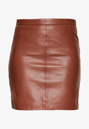 OBJCHLOE SKIRT SEASONAL - Skinnskjørt - brown patina