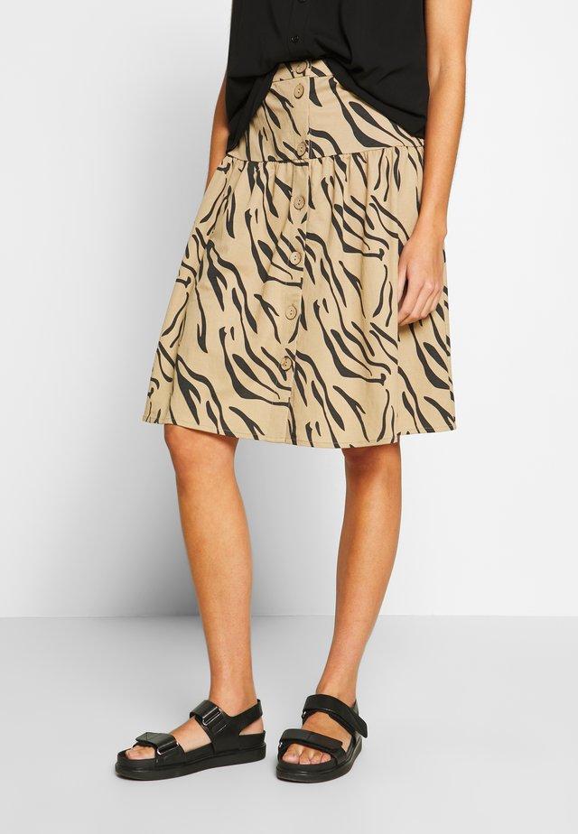 OBJTHELMA SKIRT - A-line skirt - incense/black