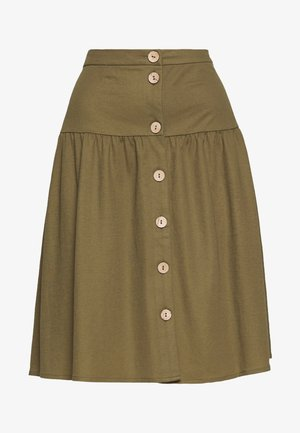OBJTHELMA SKIRT - A-Linien-Rock - burnt olive
