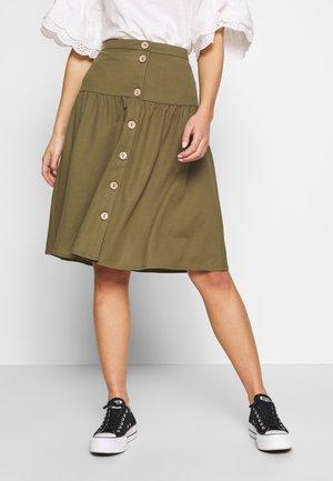 OBJTHELMA SKIRT - A-line skirt - burnt olive
