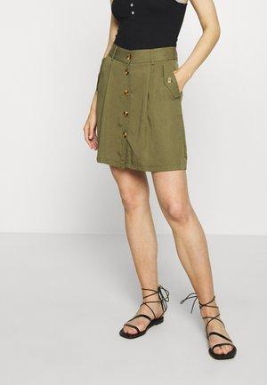 OBJGEORGIA SKIRT - A-line skirt - burnt olive