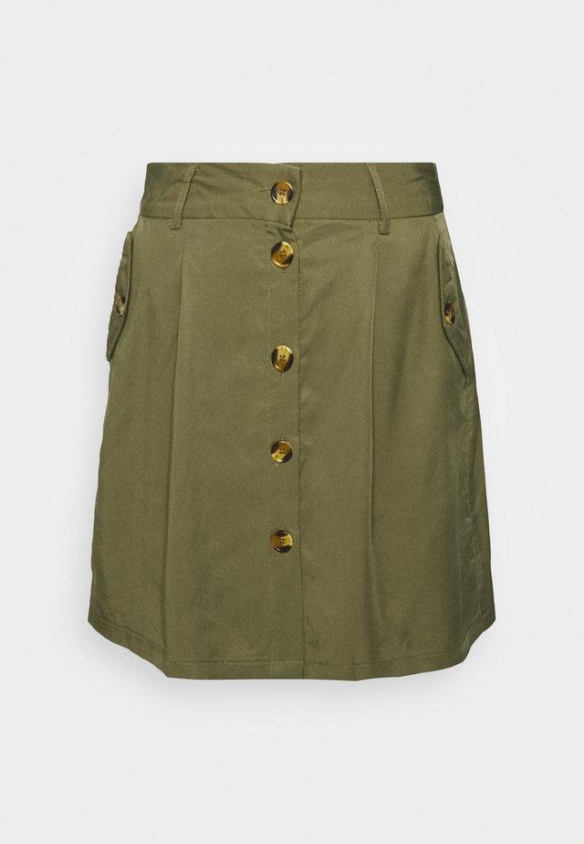OBJGEORGIA SKIRT - Mini skirt - burnt olive